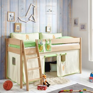 Wallart European Single Mid Sleeper Bed With Curtain By Zoomie Kids