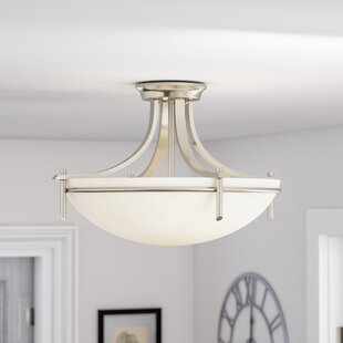 Ferrante 3-Light Semi Flush Mount by Red Barrel Studio