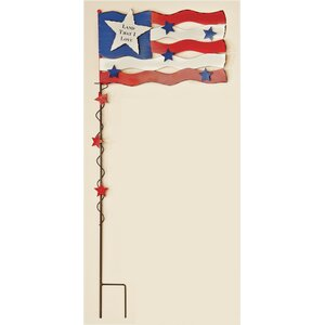 Americana Flag with Stars Garden Stake