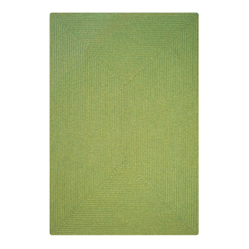 """Newt Hand-Braided Sage Indoor/Outdoor Area Rug Rug Size: Rectangle 2'3"""" x 3'0.75"""" -  August Grove"""