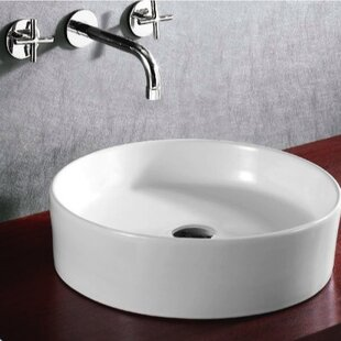 Deals Ceramica Ceramic Circular Vessel Bathroom Sink By Caracalla