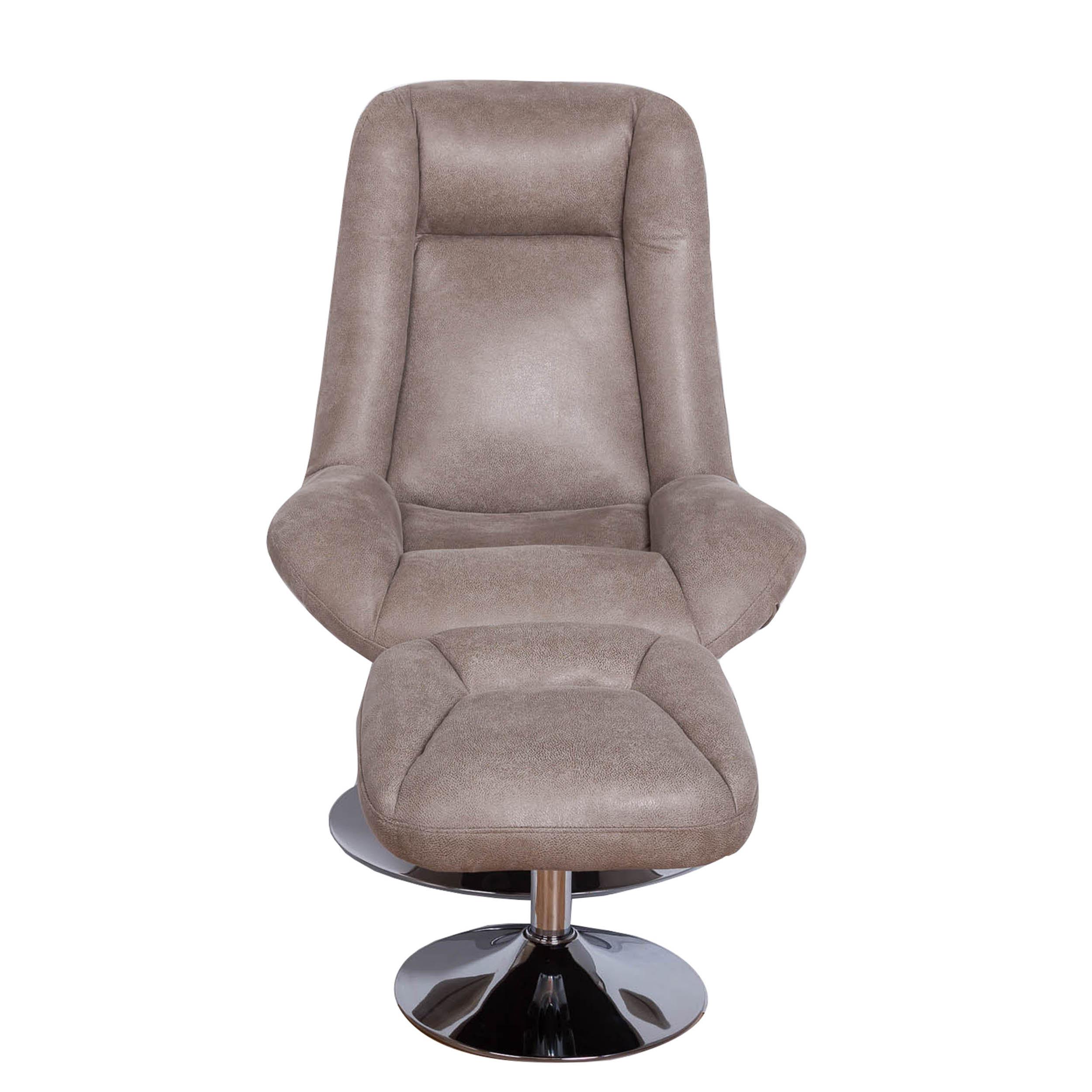 Ebern Designs Haverty Swivel Lounge Chair And Ottoma | Wayfair
