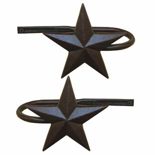 Armstrong Metal Star Curtain Holdback (Set of 2) by Millwood Pines