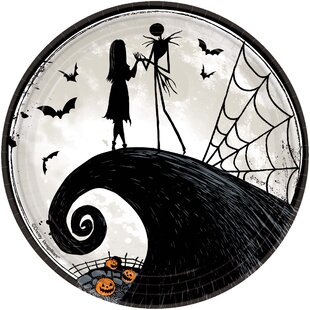 Halloween Disney Tim Burton's Nightmare Before Christmas Paper Appetizer Plate (Set of 16)