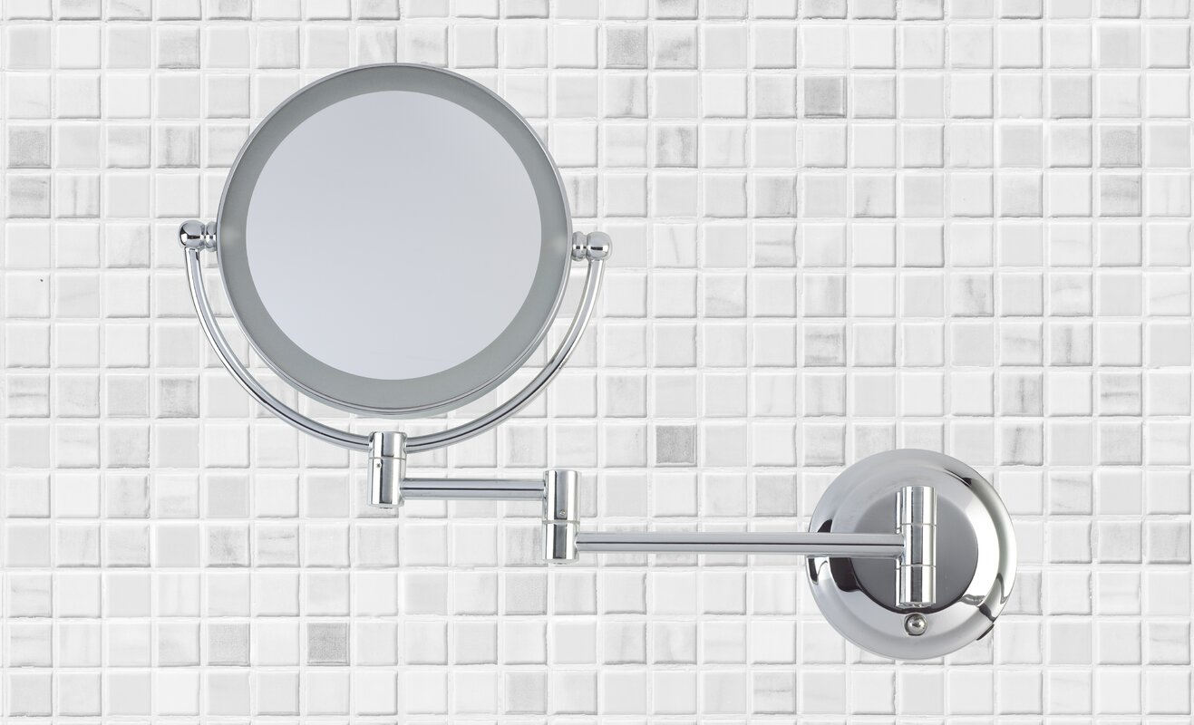 Danielle creations dual power led wall mount mirror reviews dual power led wall mount mirror amipublicfo Image collections
