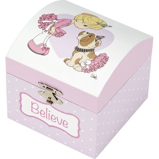 Read Reviews Believe Ballerina Musical Wood Jewelry Box By Precious Moments