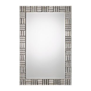 Everly Quinn Antiqued Framed Accent Mirror