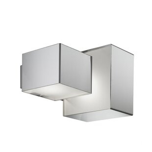 ZANEEN design Domino Inox 2-Light Outdoor Flush Mount