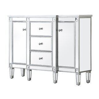 2 Door Mirrored Apothecary Square Accent Cabinet by Prestige SKU:EE160322 Details