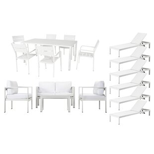 Hillwood 17 Piece Conversation Set with Cushions