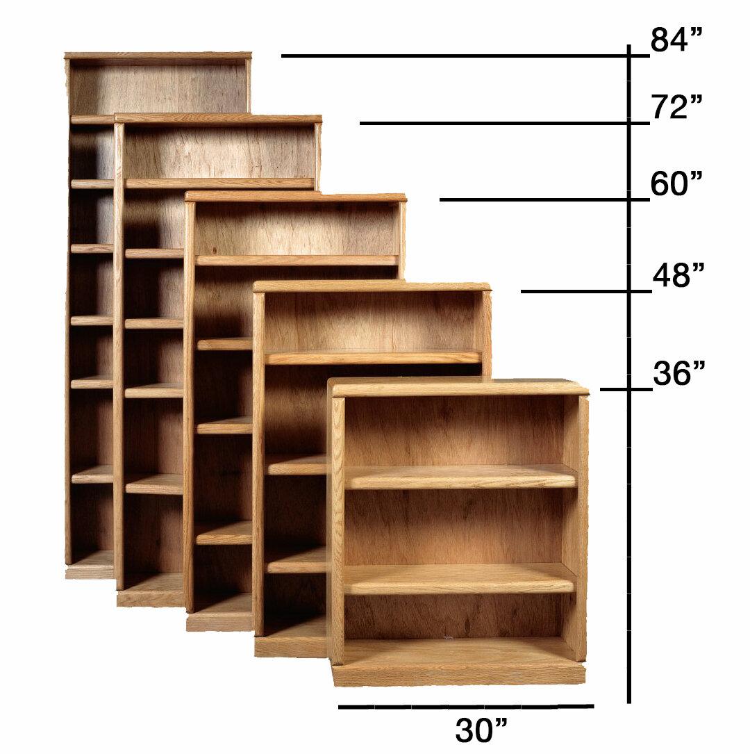 Loon Peak® Mcintosh 36'' W Solid Wood Standard Bookcase | Wayfair