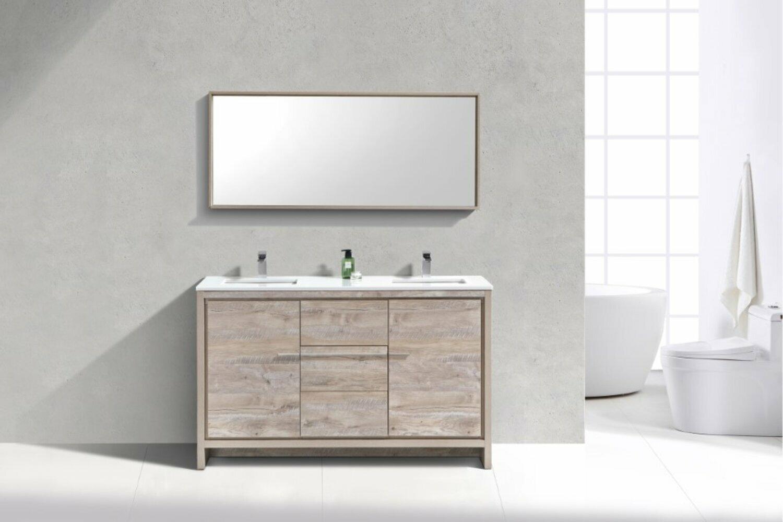 Mercury Row Bosley Modern 59 Double Bathroom Vanity Set Reviews Wayfair