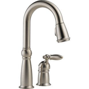 Delta Victorian Pull Down Single Handle Kitchen Faucet with Diamond Seal Technology