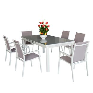 Magari Aluminum 7 Piece Dining Set