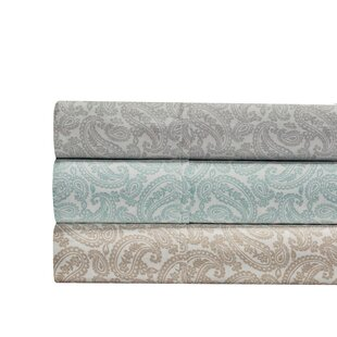 Agueda Paisley Print 400 Thread Count 100% Cotton 4 Piece Sheet Set