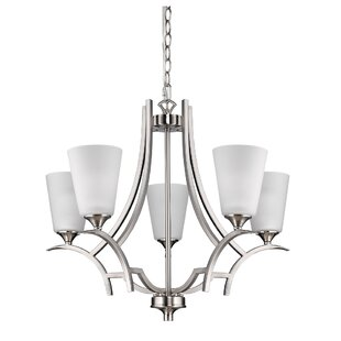 Winston Porter Vangorder 5-Light Shaded Chandelier