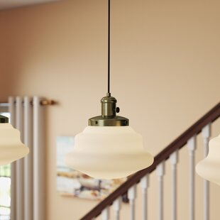 Pudalov 1-Light Schoolhouse Pendant by Winston Porter