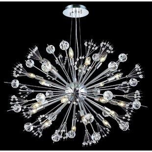 Orren Ellis Sammie 24-Light Sputnik Chandelier