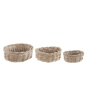 3-tlg. Rattankorb-Set von Old Basket Supply Ltd