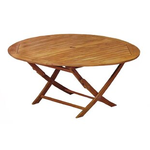Everett Round Outdoor Acacia Wooden Folding Dining Table