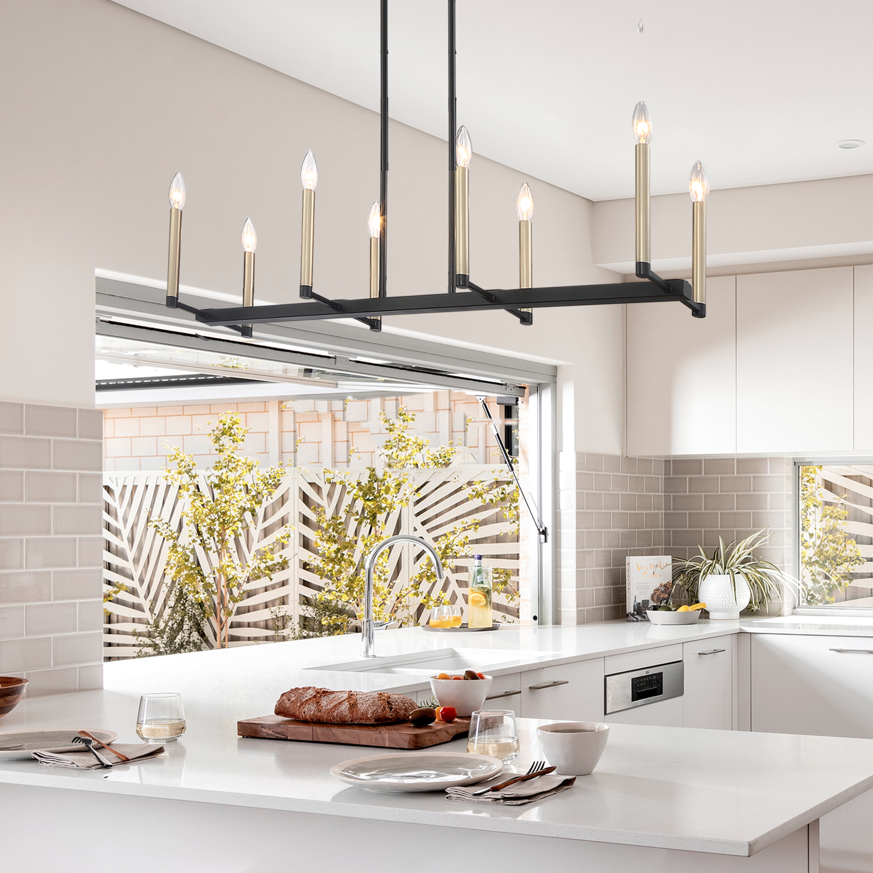 Bocana 10 - Light Kitchen Island Linear Pendant