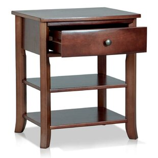 Mcdavid Wooden 1 Drawer Nightstand by Canora Grey