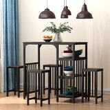 5 - Piece Counter Height Dining Set by wangcai