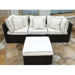 Burruss Patio Sectional With Cushions Three Posts
