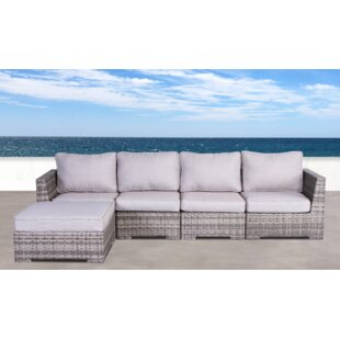 Brayden Studio Pierson Patio Sectional with Cushions