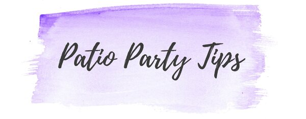 patio party tips