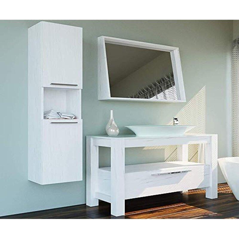 "Latitude Run Annegold 48"" Single Bathroom Vanity Set with ..."