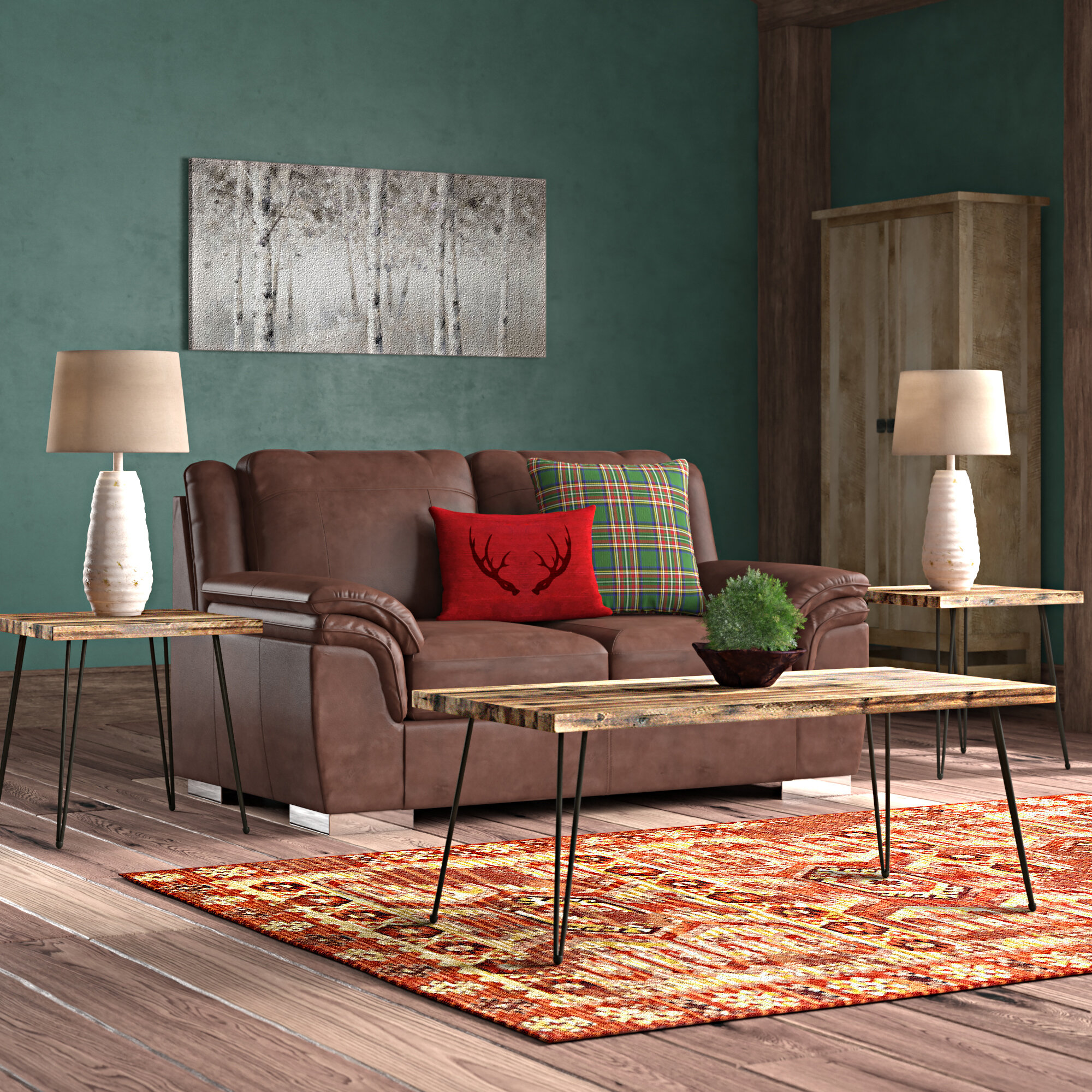 Picture of: Brayden Studio Stuber Living Room 3 Piece Coffee Table Set Reviews