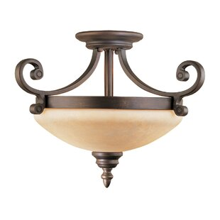 Hambleden 2-Light Semi-Flush Mount by Alcott Hill