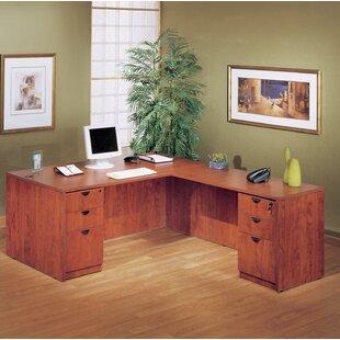 Symple Stuff 4 Piece L-Shape Desk Office Suite