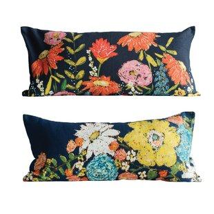 Jarus 2 Piece Floral Cotton Lumbar Pillow Set
