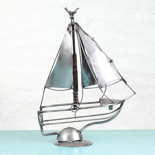 Mariário Sail Away Recycled Auto Parts Tabletop Wine Bottle Rack