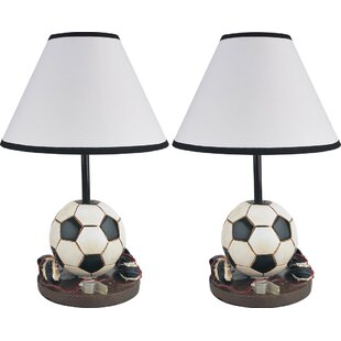 Sports table lamps youll love wayfair hilda sports inspired 16 table lamp set of 2 mozeypictures Images