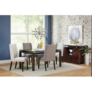 Leer Upholstered Dining Chair (Set of 2) Rosdorf Park