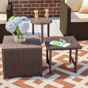 Find Agamemnon 3 Piece Wicker Side Table Set Best Buy