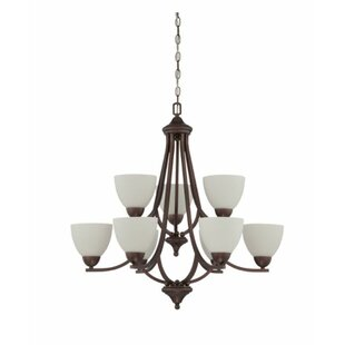 Fenton 9-Light Shaded Chandelier by Charlton Home