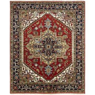 Best Deals Marshallton Hand Knotted Wool Red/Black Area Rug ByAstoria Grand