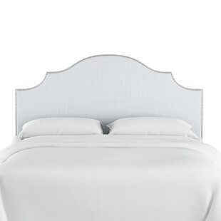 Affordable Price Rector Nail Button Notched Duck Upholstered Panel Headboard by Mercer41