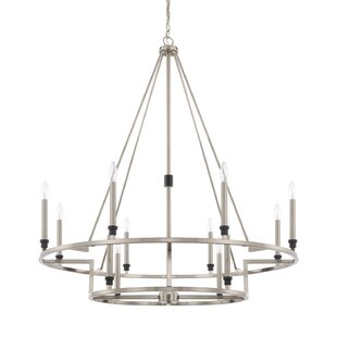 Everly Quinn Harrogate 12-Light Candle-Style Chandelier