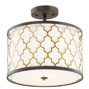 Everly Quinn Lanning 3-Light Semi Flush Mount