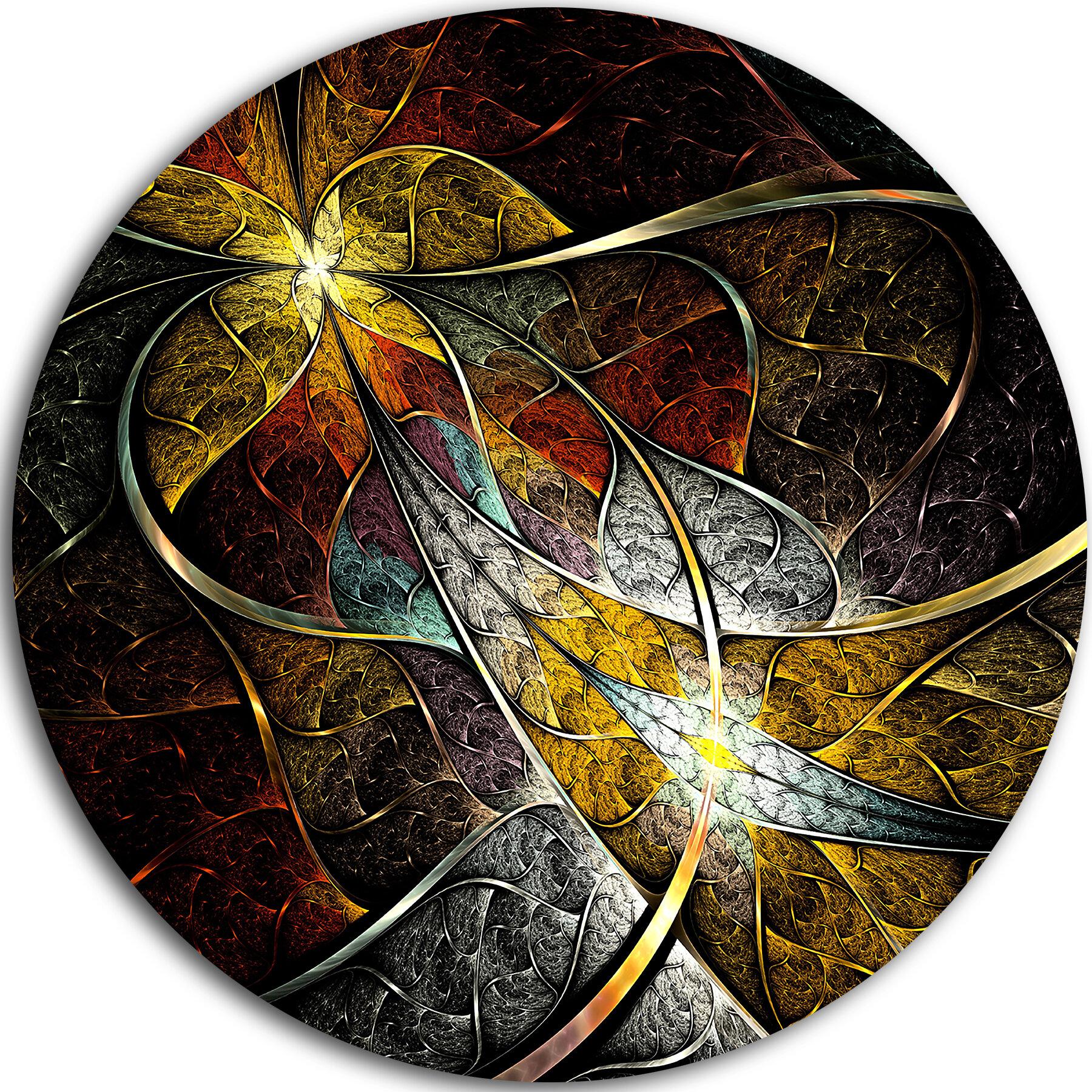 Designart Symmetrical Fractal Flower Graphic Art Print On Metal Wayfair