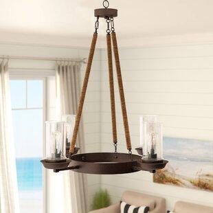 Beachcrest Home Sorrell 4-Light Shaded Chandelier
