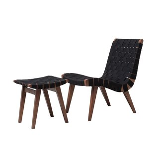 Brayden Studio Kistner Woven Lounge Chair and Ottoman