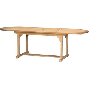 Page Oval Double Extendable Teak Dining Table