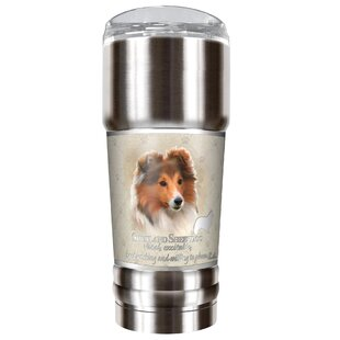 Howard Robinson's Shetland Sheepdog 32 oz. Stainless Steel Travel Tumbler