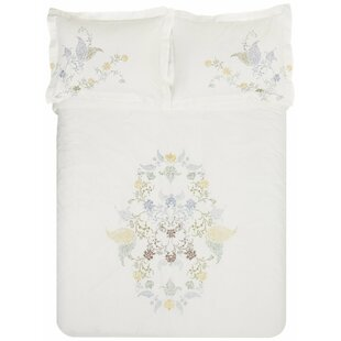 Hyacinth 3 Piece Embroidered Reversible Duvet Cover Set